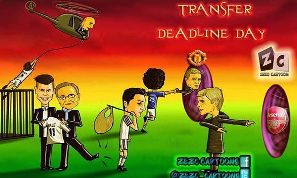 كاريكاتور عن آخر الانتقالات