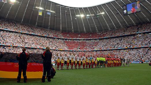 لقطة من الأليانز للمنتخب الألماني