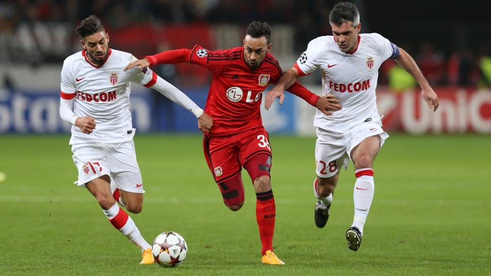 موناكو يحقق الانتصار على باير ليفركوزن