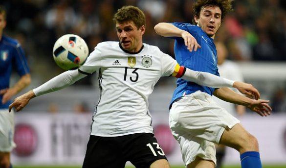 المانيا أمام إيطاليا في مباراة الـ4-1