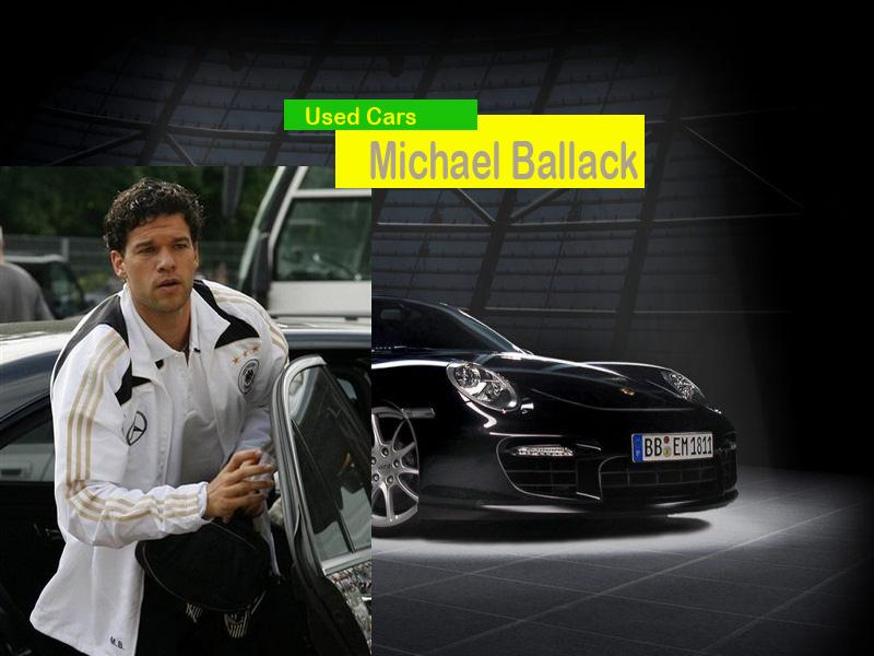 مايكل بالاك وسيارته البورش