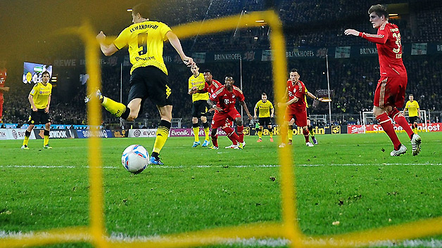 bvb fcb backheel lewandowsk
