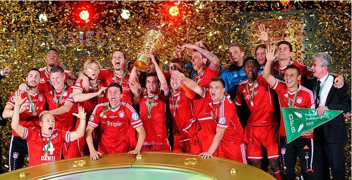 العملاق البافاري يحتفل بالتتويج بكأس المانيا