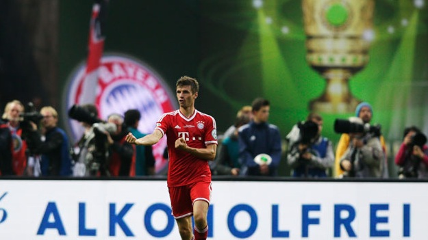 توماس مولر أفضل لاعب في المباراة النهائية لكأس المانيا وفقاً لبوندسليغا نيوز
