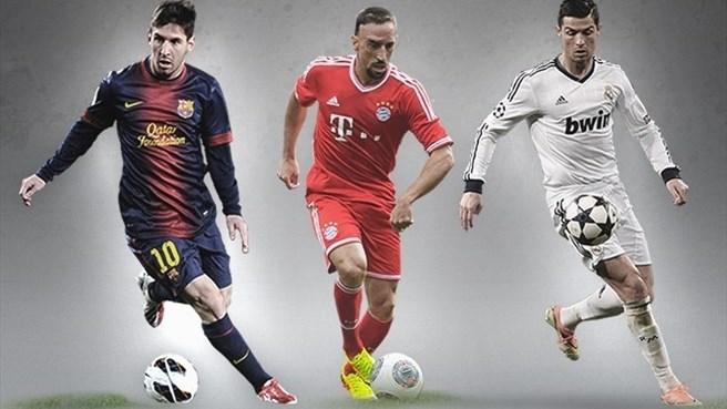 ترشيح ريبيري وميسي ورونالدو لأفضل لاعب في أوروبا