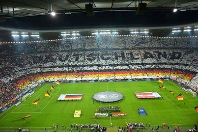 جماهير ألمانيا في ملعب الآليانز أرينا