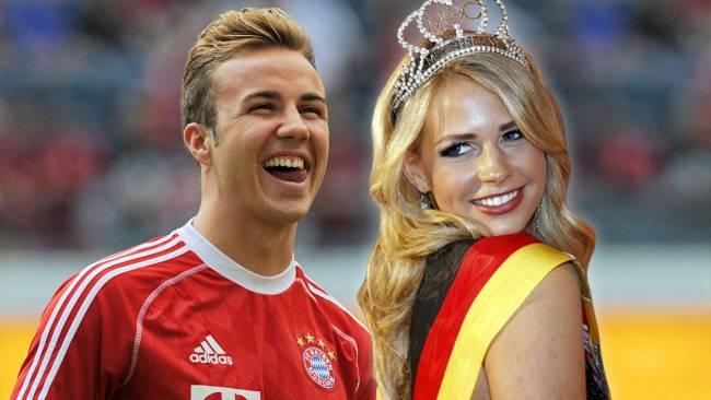 ملكة جمال المانيا وماريو غوتزه