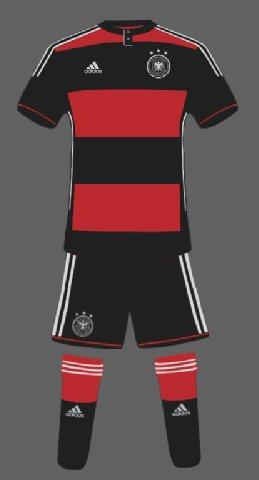 الزي الأحتياطي للمنتخب الألماني فى كأس العالم 2014