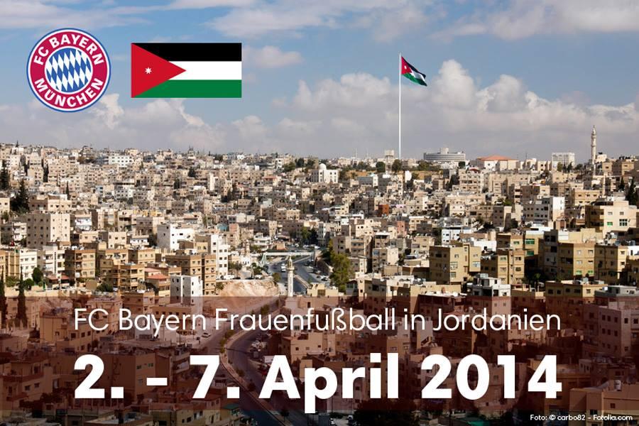 نادي بايرن ميونخ النسوي يزور الأردن