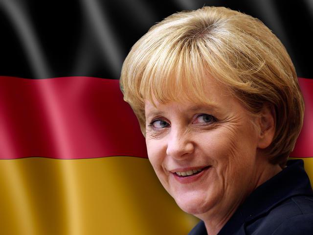 ميركل تشجع المانيا في كأس العالم من المدرجات