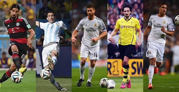 خمسة لاعبين