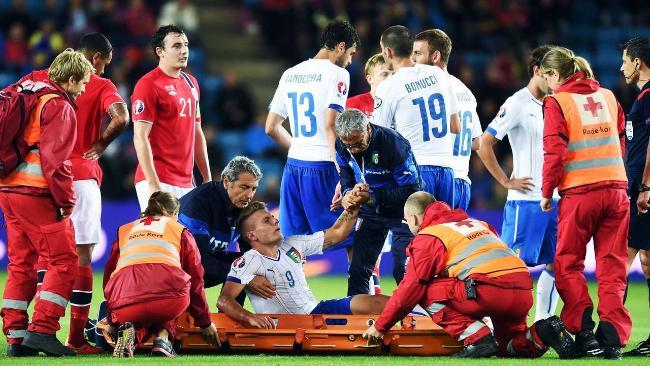 إيموبيلي يتعرض لإصابة مع المنتخب الإيطالي