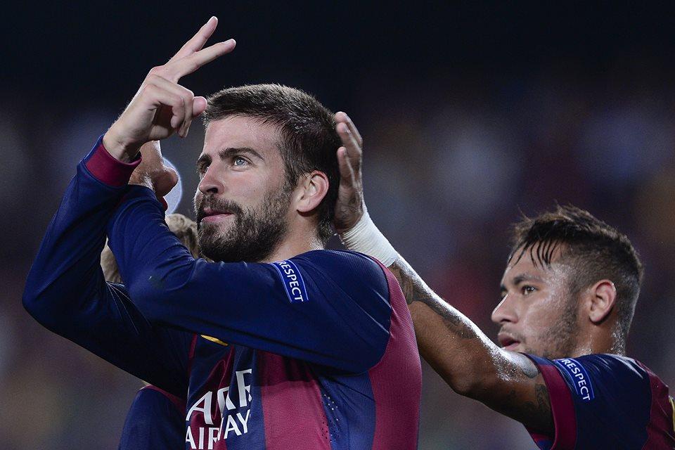 جيرارد بيكيه صاحب هدف الفوز لبرشلونة بمرمى أبويل