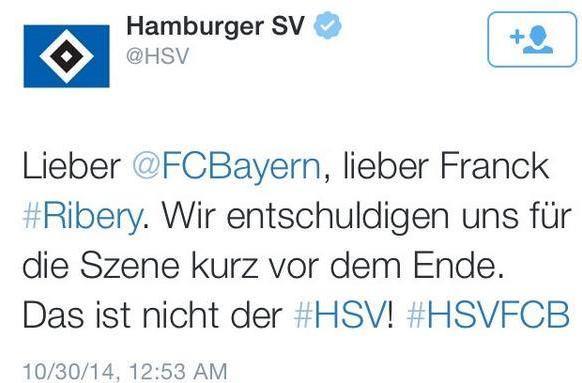 اعتذار هامبورغ عبر تويتر