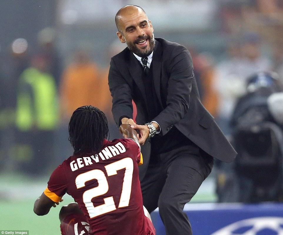 غوارديولا يحاول مساعدة جيرفينيو المحبط بعد السباعية التاريخية