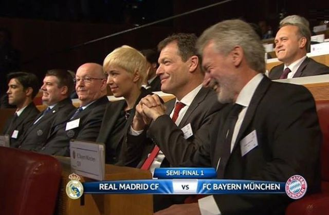 ردة فعل برايتنر لحظة إعلان مباراة البايرن والريال بالموسم الماضي