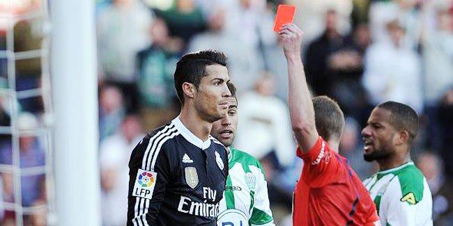 كريستيانو رونالدو يتعرض للطرد 9 مرات