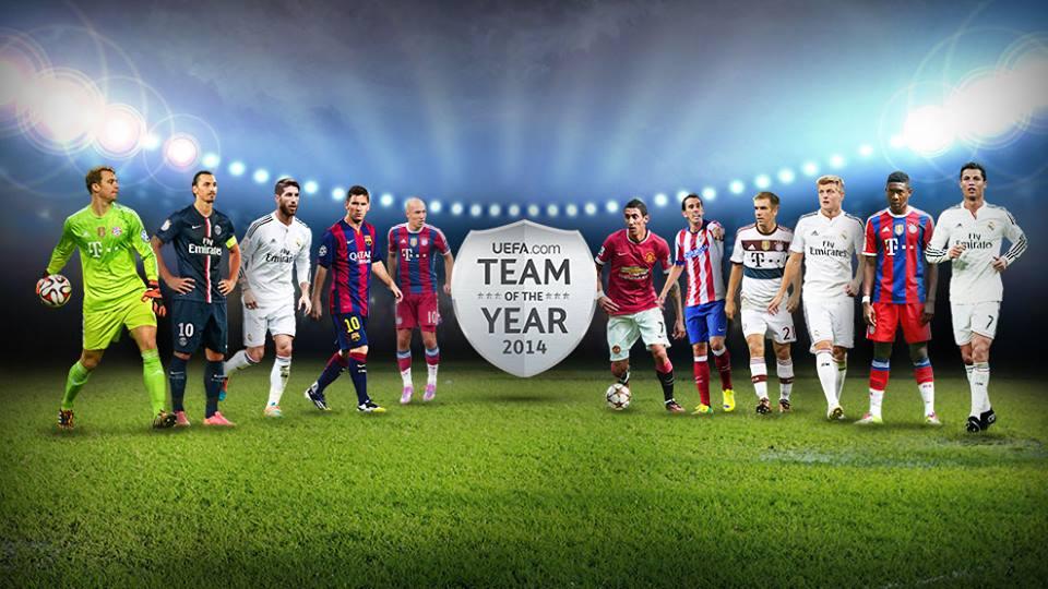 التشكيلة المثالية بحسب الإتحاد الأوروبي لكرة القدم