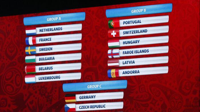 قرعة تصفيات أوروبا لكأس العالم 2018