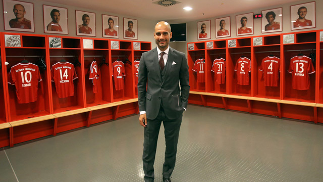 Pep Guardiola sails past the language barrier at Bayern Munich unveiling - video