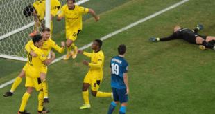 بوروسيا دورتموند يقلب الطاولة على زينيت ويتأهل بصدارة مجموعته في دوري أبطال أوروبا